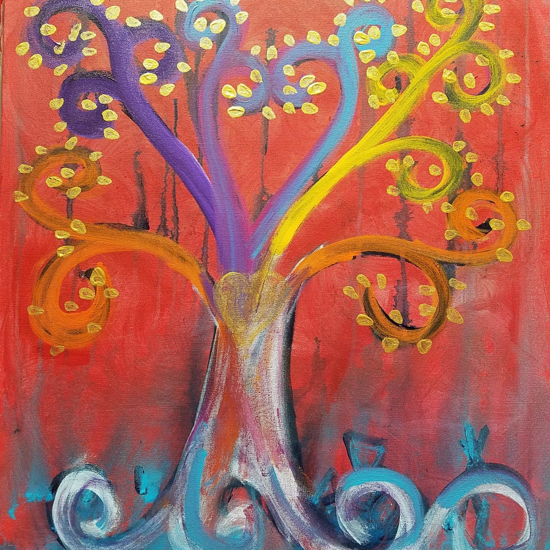 Alchemical Tree acrylic on canvas 24 x 24 $200